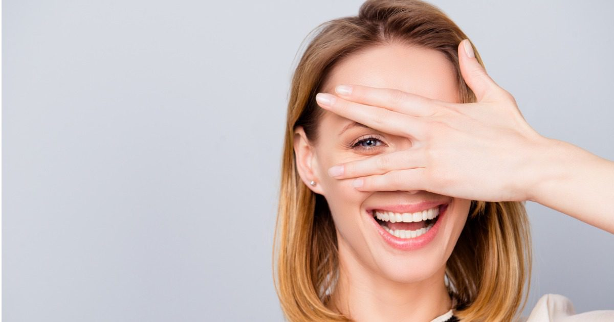 young woman smiling LASIK